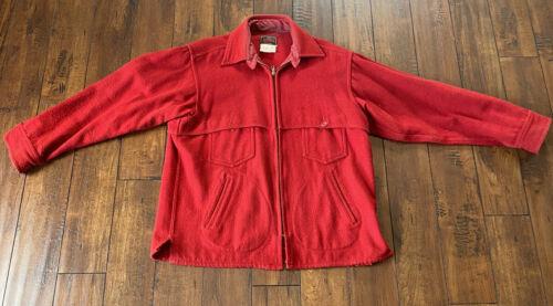 Vintage Johnson Woolen Mills Solid Red Mackinaw Ja