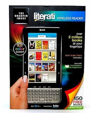Sharper Image LITERATI Color Wireless e-Book e-Reader BLACK kobo bookstore wifi