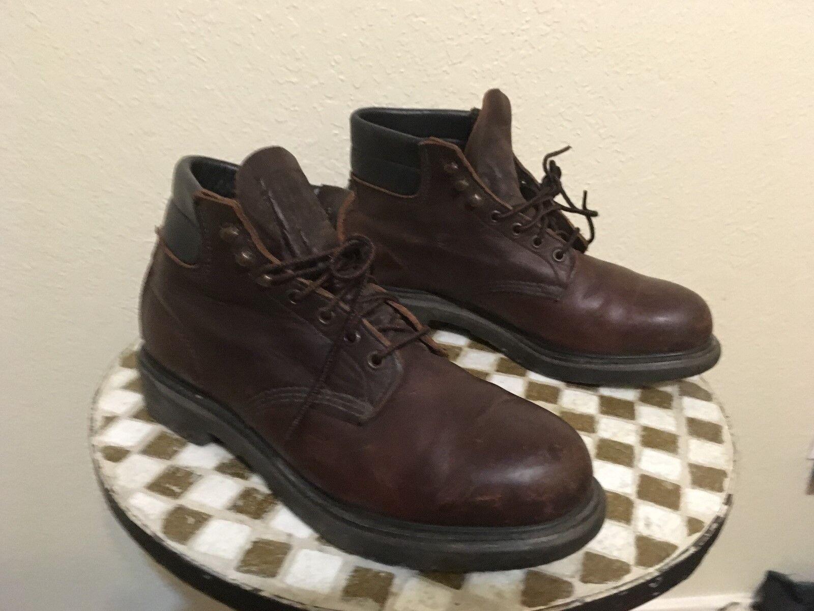 Puntera de acero EE. UU. con aspecto envejecido rojo sangre WING 2333 botas Con Cordones Vintage USA 10.5 D