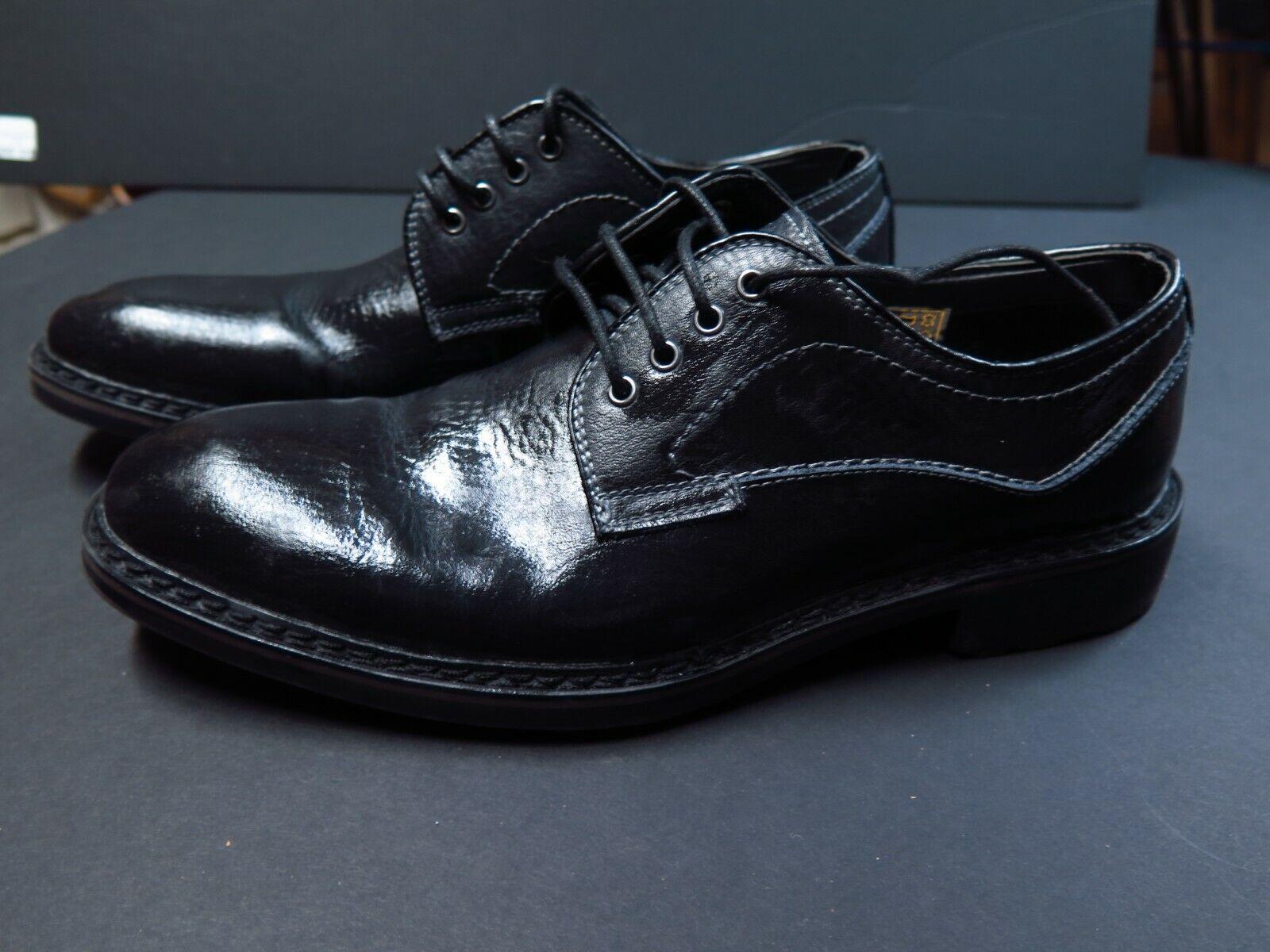 SHOES Joseph Abboud Frost Black Men's- Oxford Dress Shoes