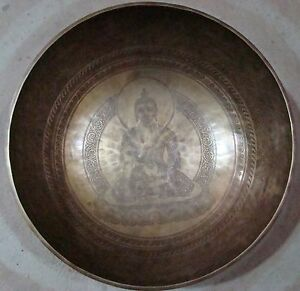 Gehaemmerte-12-kg-klangschale-Singing-bowl-Buddha-Etched-Hand-beaten