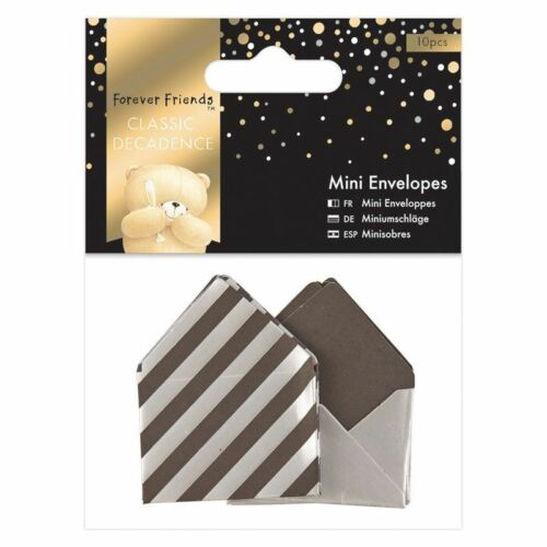 10pcs Classic Decadence Mini Envelopes Silver - Forever Friends