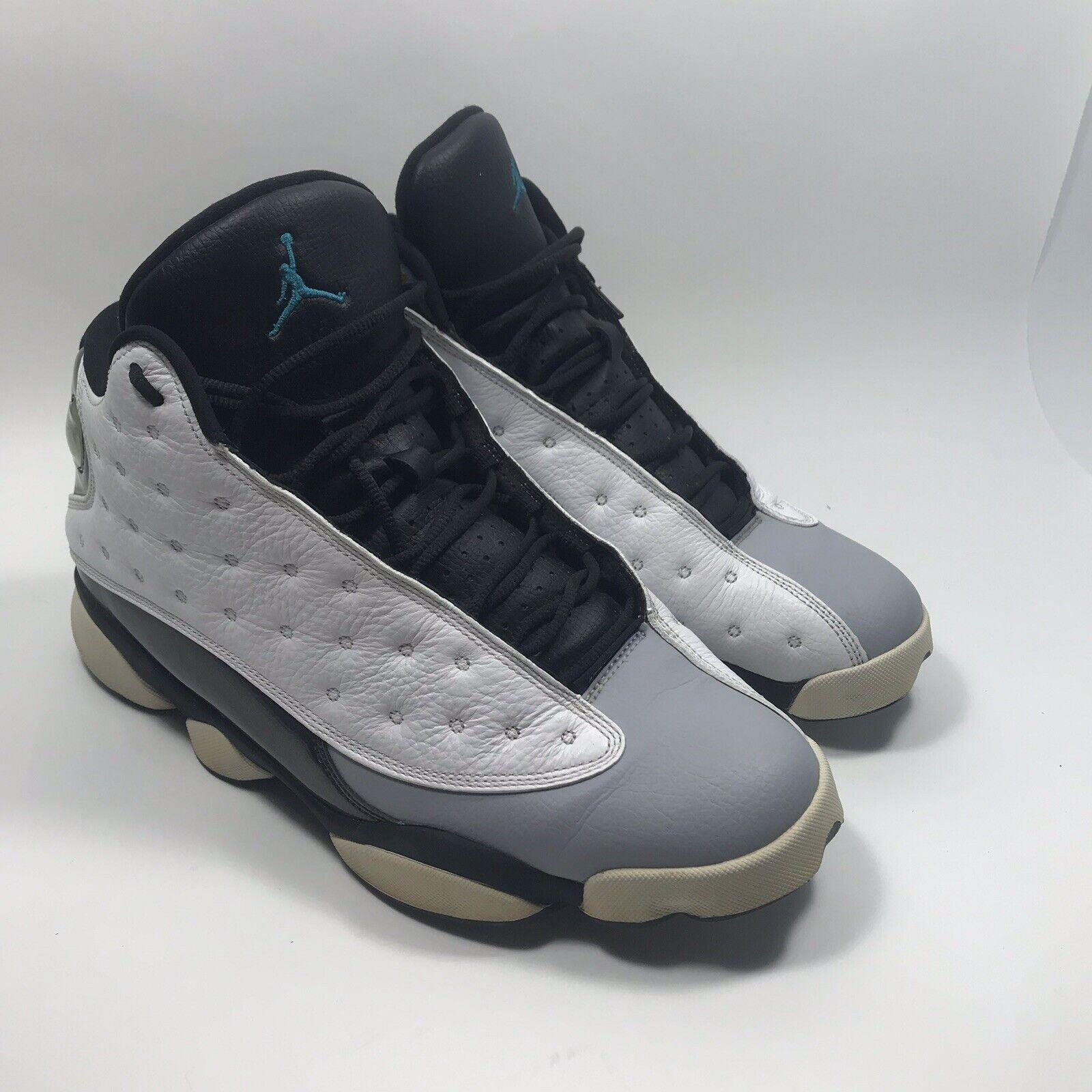Nike Air Jordan XIII 13 13 13 Retro Wolf Grey Hologram Barons 414571-115 Sz 11 74ebaf