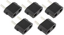 5 x Pcs US USA to EU Euro Europe AC Power Wall Plug Converter Travel Adapter New