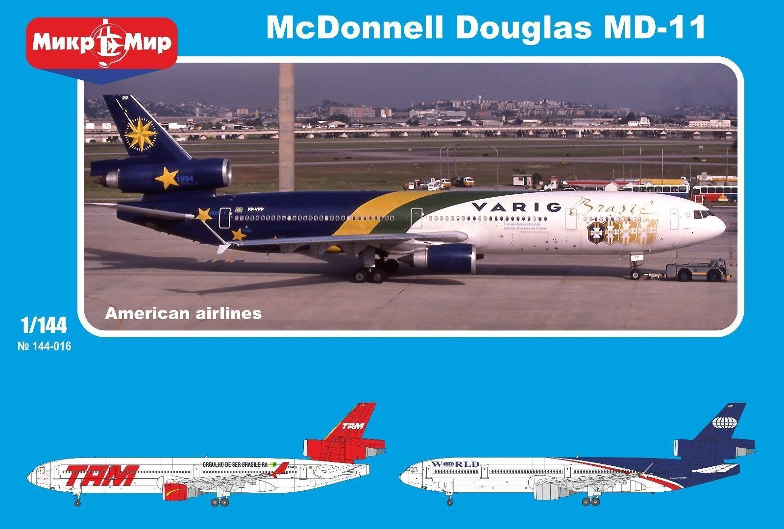 1  144 Micromir McDonnell Douglas MD -11 VARIG Brasil Masks 144 -017