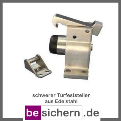Türfeststeller Außenbereich Edelstahl mit Fanghaken für schwere Türen 005//588//5