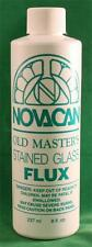 Novacan Old Masters Stained Glass Liquid Flux 8 Oz Bottle