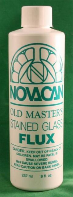 Novacan Old Masters Stained Glass Liquid Flux - 8 oz. Bottle
