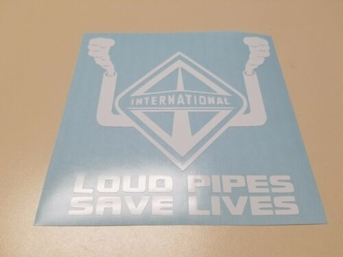 Window Toolbox Stickers #628 Loud Pipes Save Lives