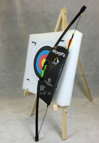 ASD Wildcat Kids Recurve Archery Bow 18Lbs Package 3 W// Target Boss /& Stand