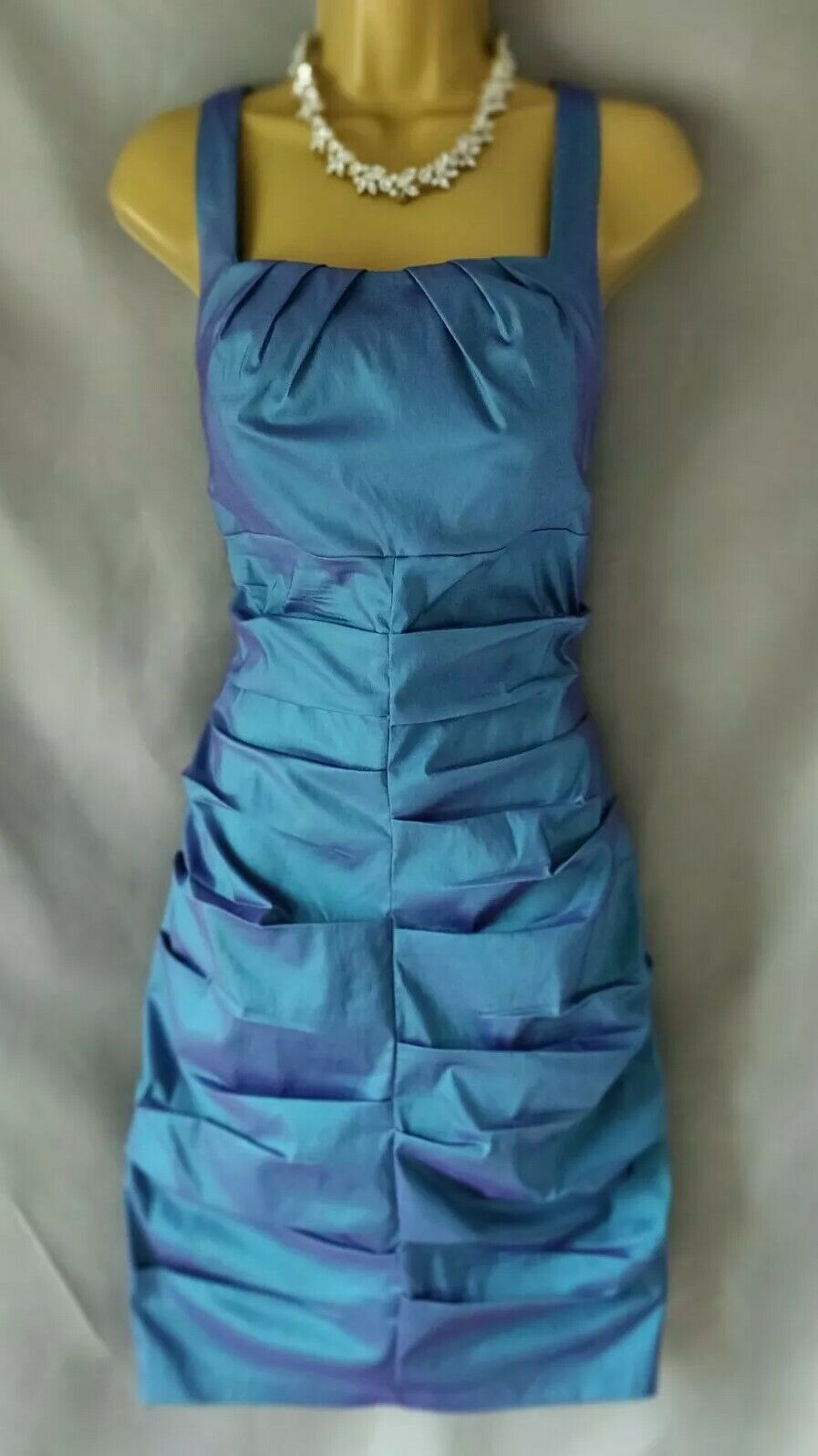 Petrol Blue Size UK 10-12 Mother of the Bride Dress Wedding/Races