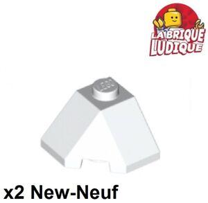 Lego-2x-Wedge-2x2-slope-45-corner-brique-pente-blanc-white-13548-NEUF