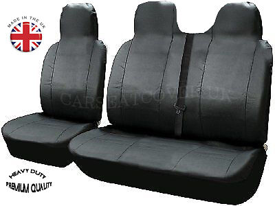 DOUBLE 2-1 DELUXE GREY//BLACK VAN SEAT COVERS SINGLE FORD TRANSIT 2008
