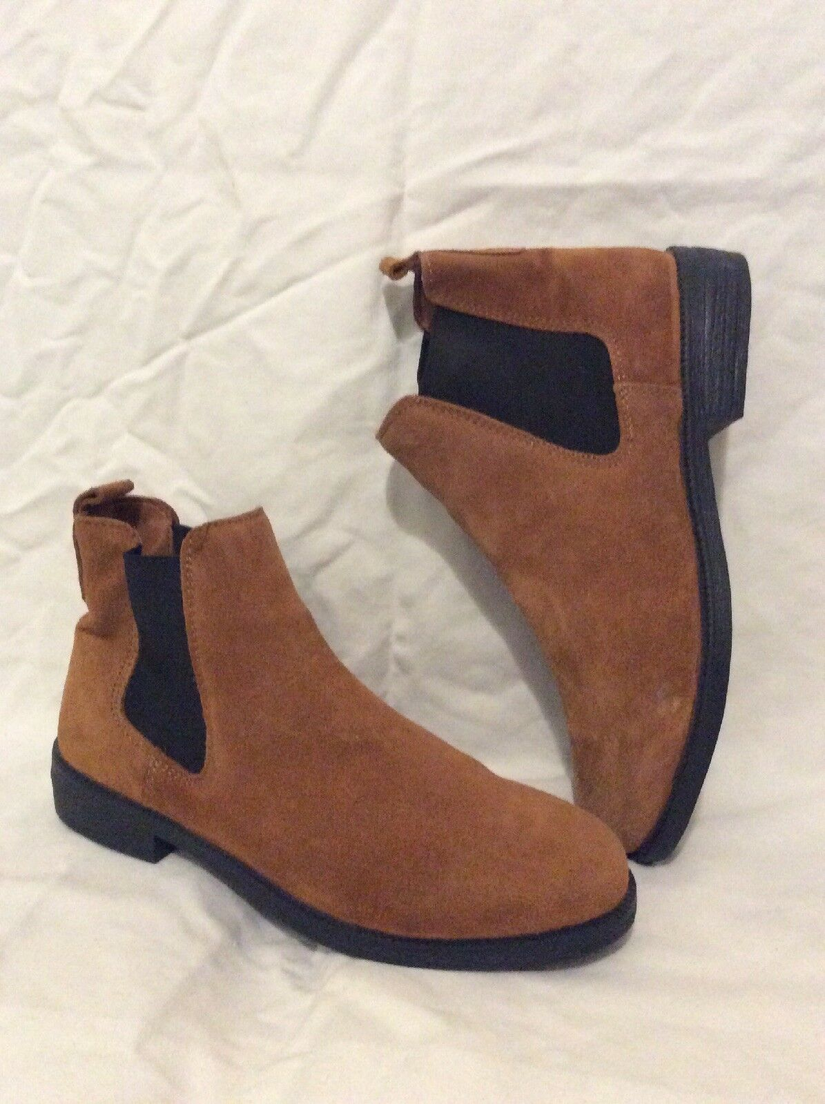 River Island Brown Ankle Suede Boots Size 5