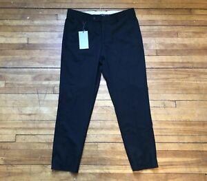 zara man black cropped casual dress pants trousers 31 46