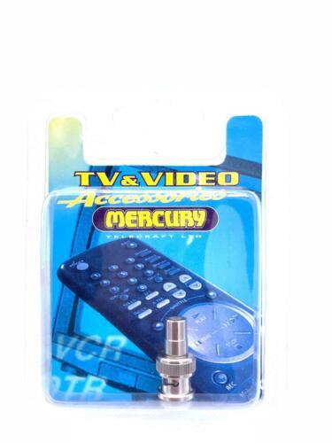 1 X MERCURY Twist on BNC Male Connector AdapterTV /& Video Accessories