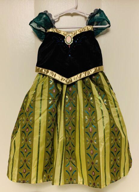 Disney Parks Frozen Anna Green Dress Costume Girls M (7/8 ...