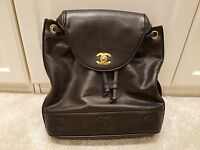 ~*Used 1999 Chanel Vintage Leather Backpack 100% Genuine ONLY~*