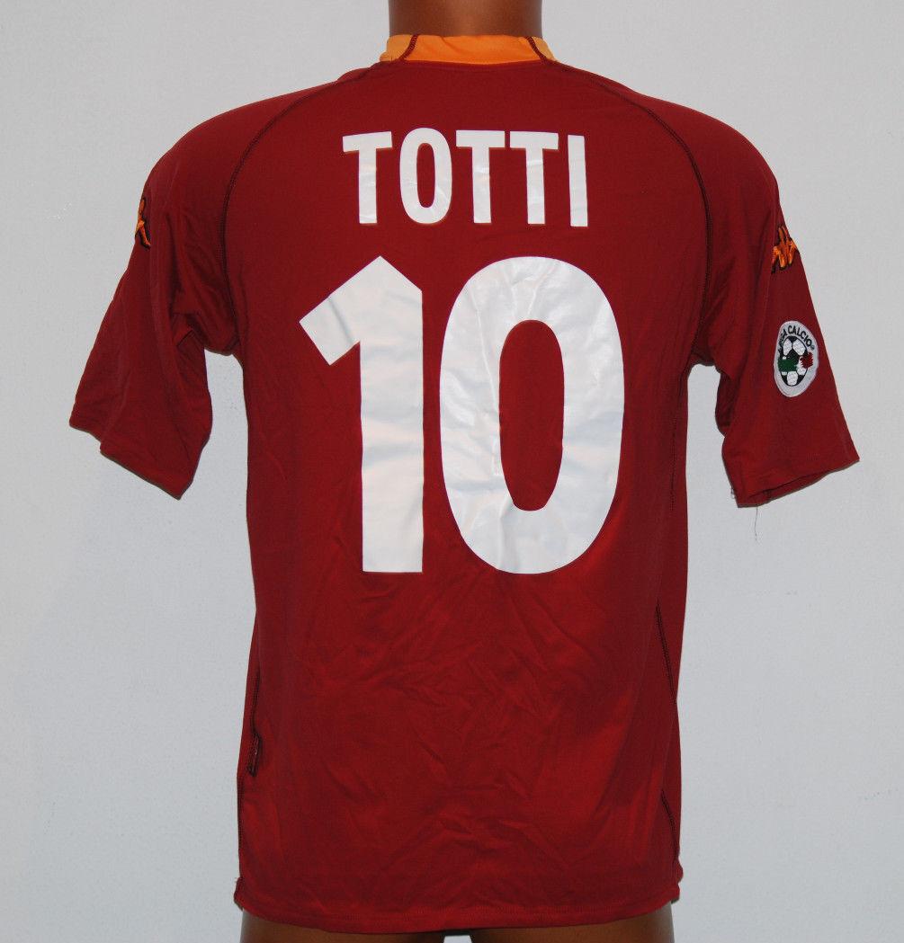 Maglia ROMA scudetto 2000 2001 Kappa TOTTI no match worn Ina Assitalia XL