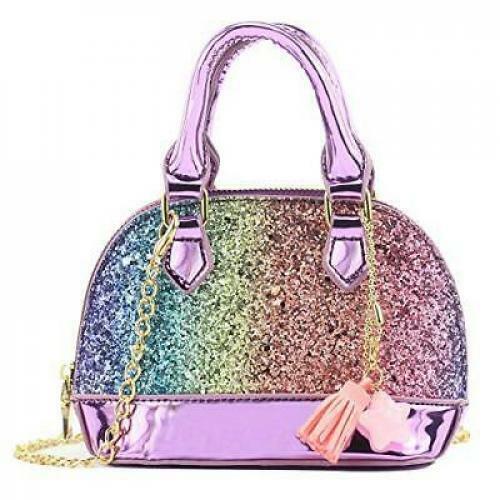 48f8a6a89782 Glitter Toddler Purse for Little Girls Mini Kids Crossbody Handbag Shoulder  Bag