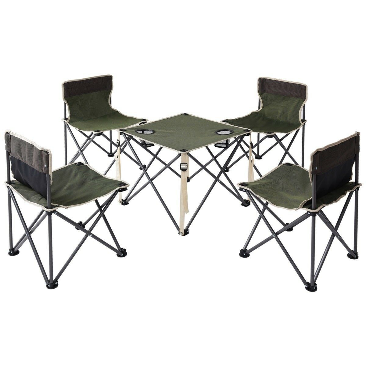 Folding Camping Table Chairs Portable Picnic Foldable Seats Outdoor Carrying Bag