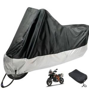 Durable-Motorcycle-Motorbike-Rain-Dust-Cover-Water-Dust-Protection-Black-UK