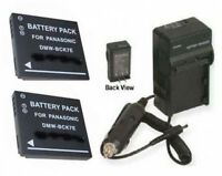 Two 2 Batteries + Charger For Panasonic Dmc-fs18s Dmc-fp5 Dmc-fp5a Dmc-fp5g