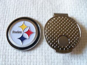 NFL-Pittsburgh-Steelers-Golf-Ball-Marker-and-Magnetic-Hat-Clip-Bonus