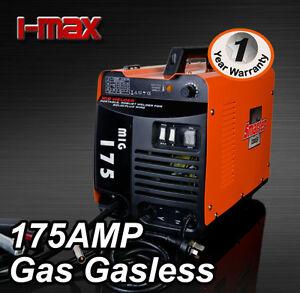 NEW-MODEL-MIG-175-Amp-GAS-GASLESS-WELDER-ONE-YEAR-WARRANTY