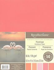 """New Recollections 8.5x11"""" Cardstock Paper Flamingo Oranges, Pinks, 50 Sheets"""