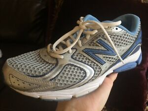 Details zu New Balance Women's 580V2 Silver Blue Mesh Running Shoes Sz 9.5  B (USA)