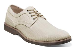 Stacy Adams Eli Plain Toe Oxford Casual Shoes Canvas Cream  25237-113