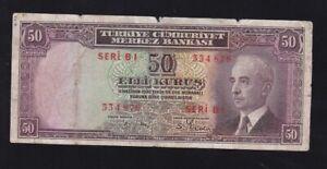 TURKEY ---- 50  KURUS  1930 ----- VG ------