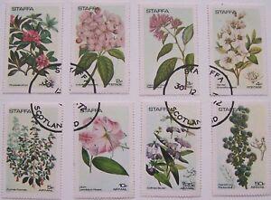 Great-Britain-Staffa-1972-Set-Flowers-used