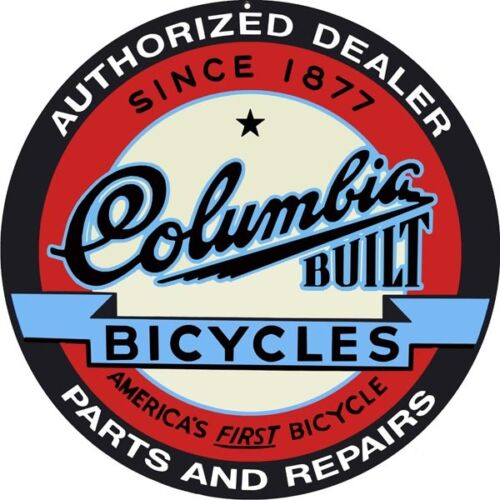Columbia Authorized Dealer Bicycles Repair Sign