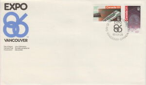 CANADA-1092-1093-EXPO-86-COMBINATION-FIRST-DAY-COVER
