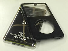New Black Front Faceplate + 2TB Back Cover Housing for iPod 5th 5.5 Gen Video