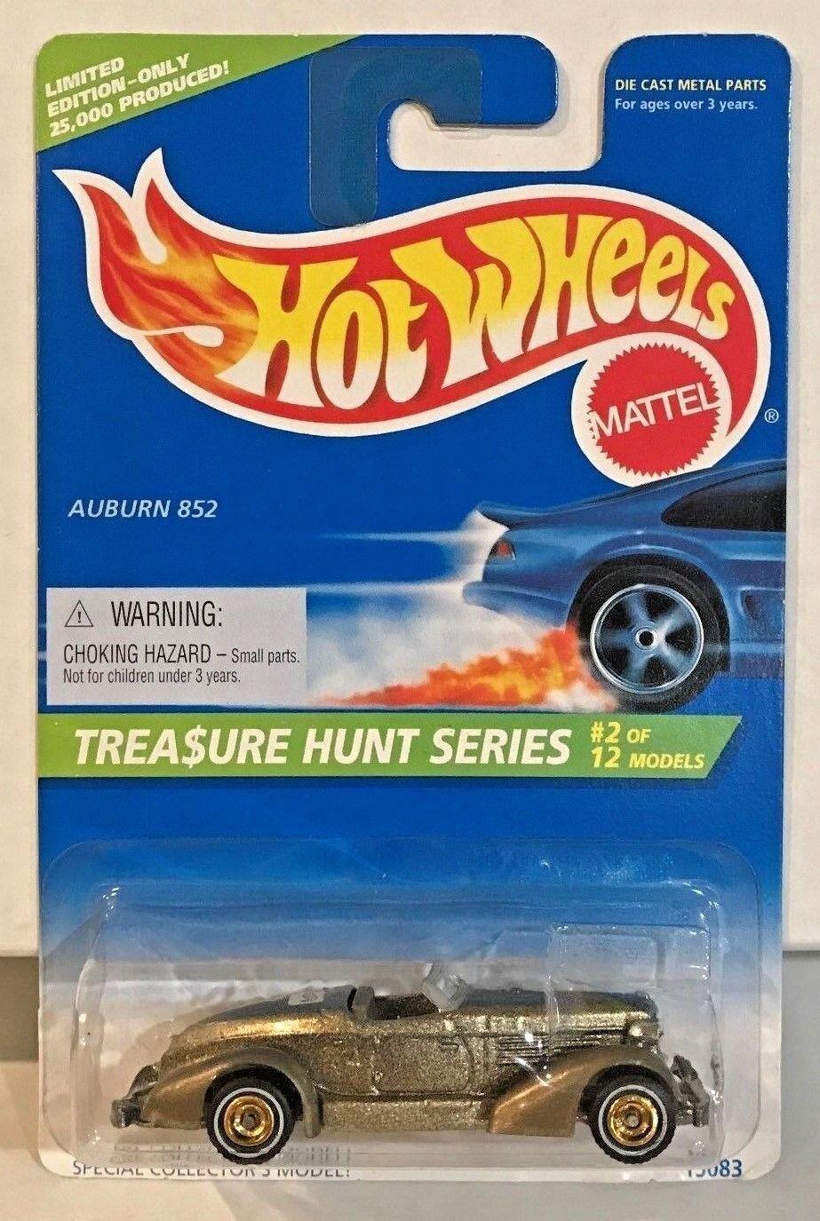 Hot Wheels 1996 Treasure Hunt - gold Auburn 852 w Real Riders of 12  LE   25k
