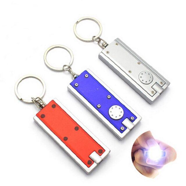 5x Mini Super Bright Light LED Camping FlashLight Ring Key Chain Lamp