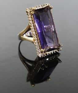 925-Sterling-Silver-Handmade-Antique-Turkish-Amethyst-Ladies-Ring-Size-7-9