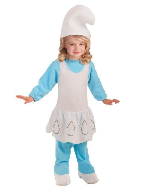 The Smurfs Toddler Girls Blue Smurfette Costume With Smurf Hat 2t-4t ... e92e54a16