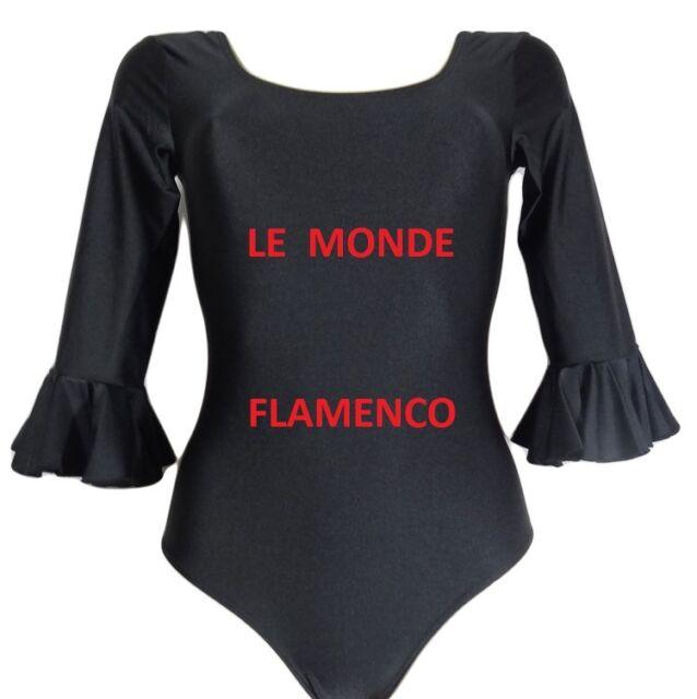 BODY DE  FLAMENCO  FEMME/ADO  MANCHE  3/4   NOIR