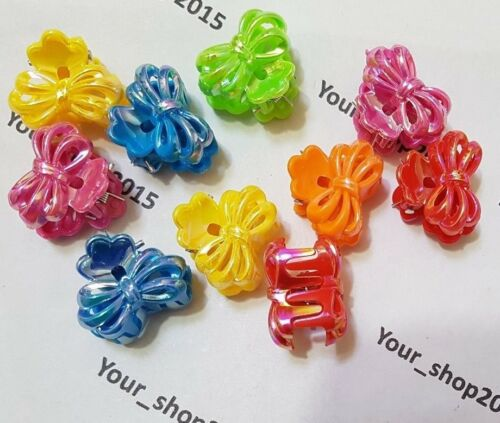 10 Assorted Clips Shiny Claws Clamps Bow Style Wedding Party Hair Accessories