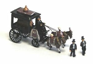 Horse-Drawn-Hearse-Figure-coffin-N-Scale-1-148-UNPAINTED-Kit-E48-Langley-Models