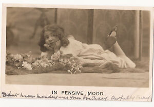 e22-RP-of-Child-Glamour-034-In-Pensive-Mood-034-Bamforth-Card-1905-Used