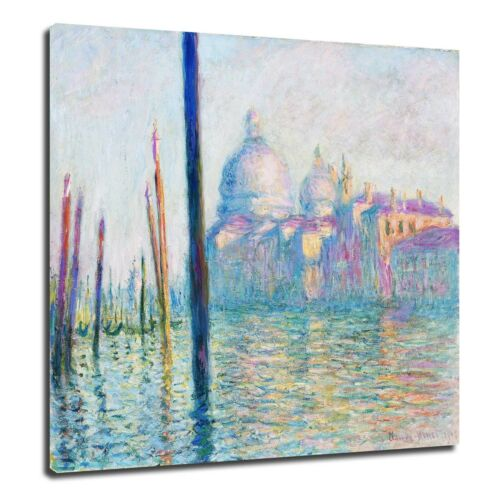 The Grand Canal 1908 Poster Canvas Print 16 Claude Monet