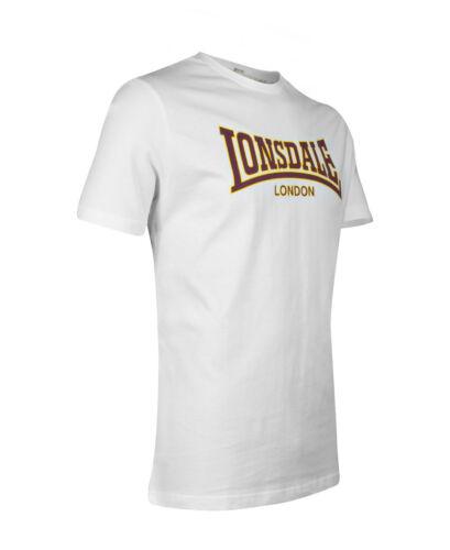 Lonsdale Premium CLASSIC Slim-Fit T-Shirt Flock Print Logo 100/% Cotton