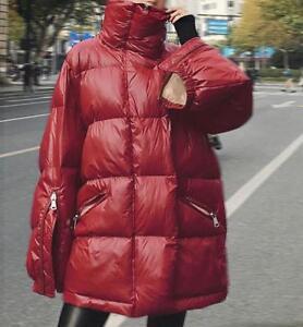 Parka rembourré surdimensionné à pour brillant capuche et décontracté Manteau femmes F517 7UTqxUdw