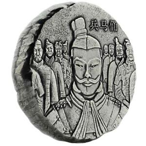 2018-5-oz-Terracotta-Army-999-Fine-Silver-Antique-Polished-Coin-A471