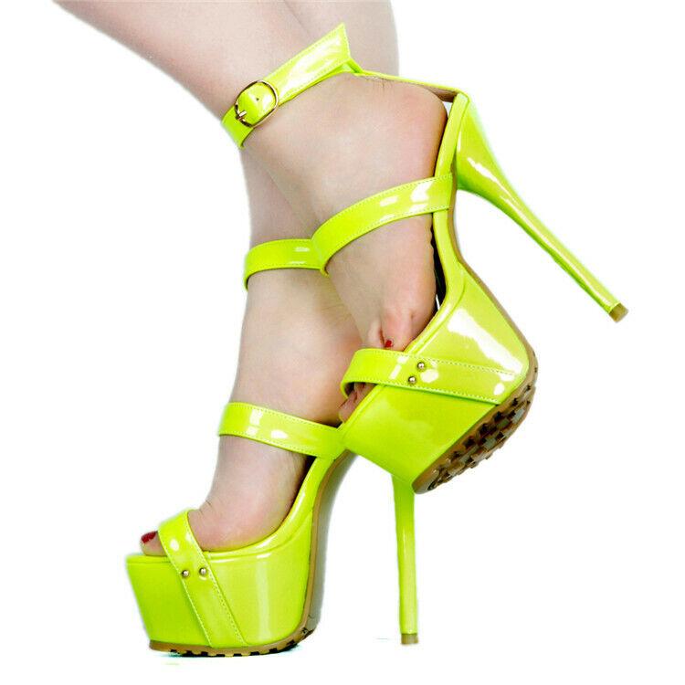 Women Platform Sandals Peep Toe High Heels Strappy Sexy shoes shoes shoes Stilettos Clubwear ac233d